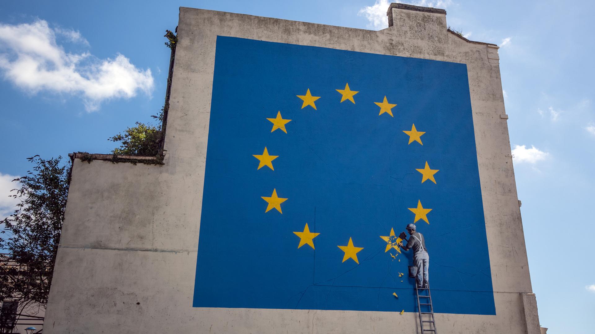 Levakolták Banksy Brexit-alkotását